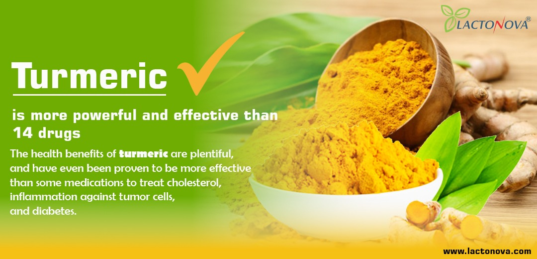 Turmeric is more powerful and effective than 14 drugs